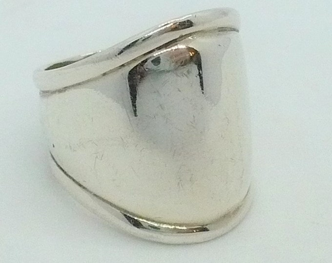 sz 7 Sterling Silver Vintage Signet Ring Mid Century Modern Vintage Jewelry