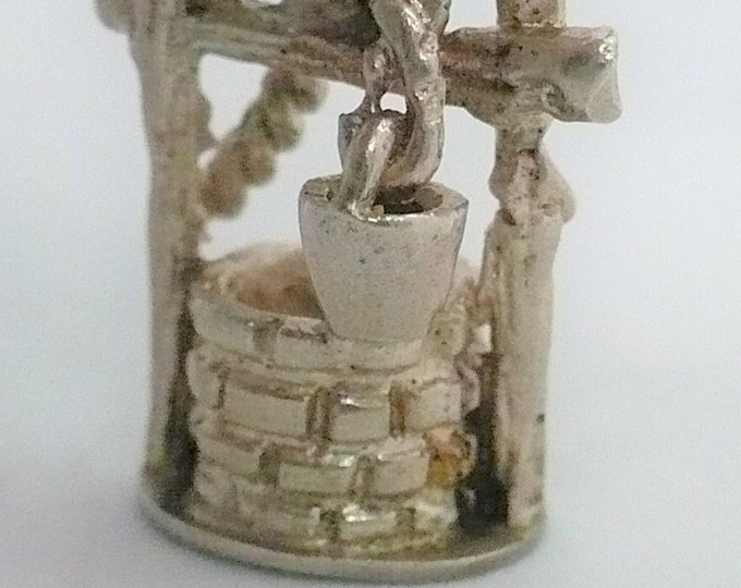 Wishing Well Silver Vintage Charm
