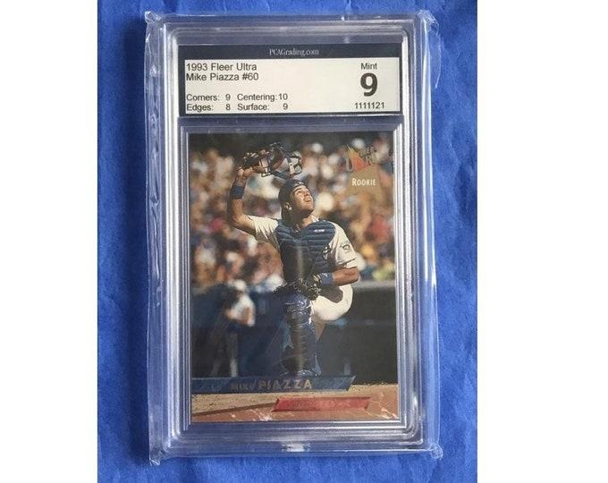 9 Mint PCA 1993 Fleer Ultra #60 Mike Piazza RC HOF Vintage Baseball Card