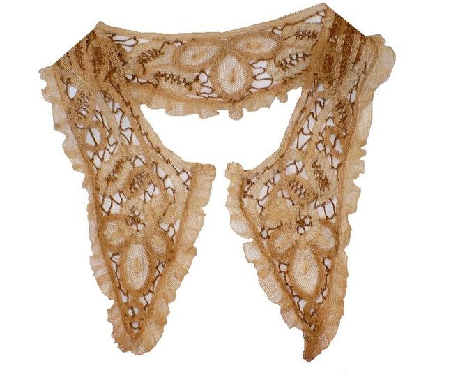 Victorian Hemp Lace Collar Antique