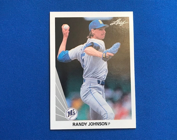 1990 Leaf #483 Randy Johnson Mariners Vintage Baseball Card