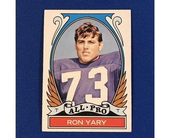 1972 Topps #265 All-Pro Ron Yary Highlights of 1971 Football Card Trading Card Vintage Sports Memorabilia Collectibles