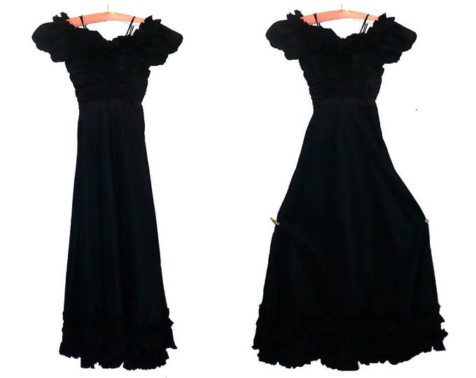 1930's Vintage Tango Formal Dress Gown