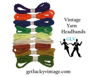 Retro Yarn Headbands Vintage 1960's Yarn Hair Ties Cosplay Birthday Party Favors Stocking Stuffers