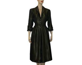 Changeable Taffeta / Vintage 1950's Dress / Medium/ Get Lucky Vintage