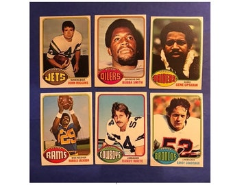 Set 1976 Topps Football Rookie Card Randy Gradishar John Riggins Bubba Smith Gene Upshaw Harold Jackson Randy White