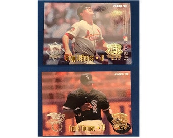 1995 Fleer All-Stars #2 of 25 Frank Thomas Gregg Jefferies Cardinals White Sox Baseball Card Trading Card