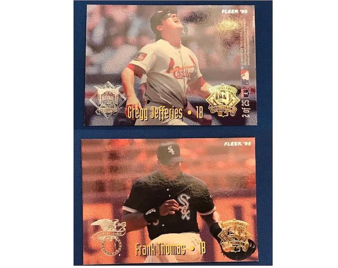 1995 Fleer All-Stars #2 Frank Thomas Gregg Jefferies Cardinals White Sox Vintage Baseball Card
