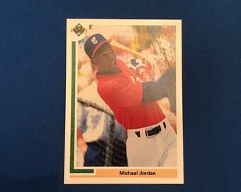 1991 Upper Deck #SP1 Rookie Card Michael Jordan Chicago White Sox RC Baseball Trading Card Vintage Sports Memorabilia Collectibles