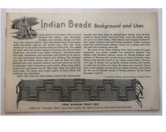Indian Beads Beading Craft Projects DIY Booklet Vintage Craft Supply