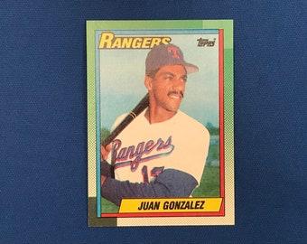 1990 Topps #331 Juan Gonzalez Rangers Baseball Rookie Card RC Trading Card Vintage Sports Memorabilia Collectibles