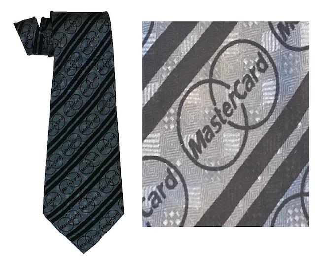 1980's Vintage Silk MasterCard Logo Necktie Tie