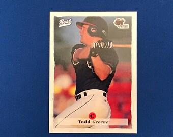 1995 Best Baseball Promo Card Todd Greene 16th National Sports Collectors Convention Phoenix Arizona Edition RARE