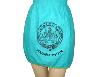 1950's Vintage South Africa Matjiesfontein Half Apron James D. Logan and Co. Ltd. Cape Colony