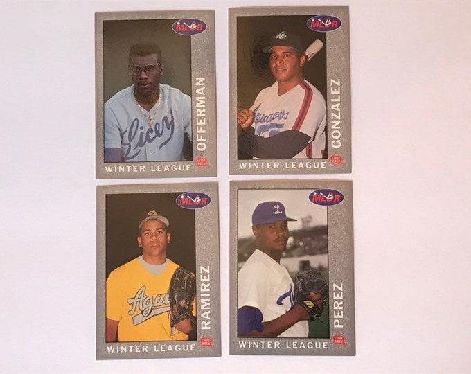 Lot 1993 Lime Rock Dominican Winter League P1 P2 P3 P4 Vintage Baseball Cards