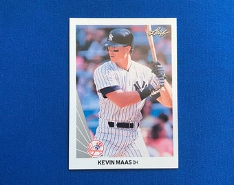 1990 Leaf / #446 / Kevin Maas  / New York Yankees / RC  / Rookie Card  / Vintage Baseball Card / Get Lucky Vintage