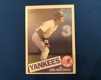 1985 Topps / #665 / Don Mattingly / Yankees / Vintage Baseball Card / Get Lucky Vintage