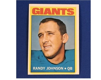 1972 Topps #325 Randy Johnson San Francisco Giants Football Card Trading Card Vintage Sports Memorabilia Collectibles