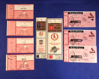 Lot World Series Tickets Stubs / Vintage Cardinals Baseball Games /  1995, 1997, 1987, 1998 / Vintage Baseball Card / Get Lucky Vintage