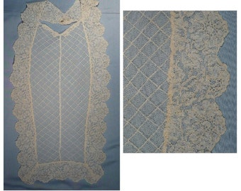 Vintage 20s French Lace Modesty Collar Vintage Sewing Supply