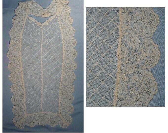 1920's Vintage French Lace Bib Collar