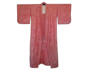 Vintage Men's Wool Kimono Full Length Robe
