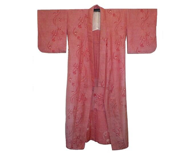 1950's Vintage Men's Wool Kimono Vintage Long Robe
