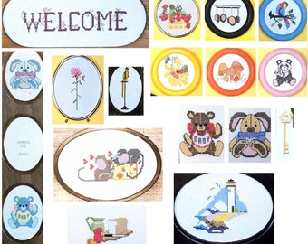 Cross Stitch Welcome & Baby Graph Patterns DIY Book Booklet Vintage Craft Supply School House Of Counted Cross Stitch Instructional Manual