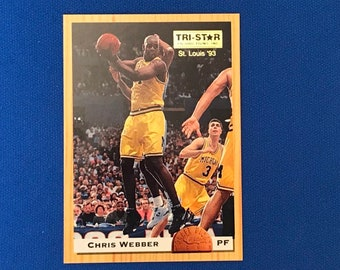 1993 Classic Draft Picks Promos Tri-Star Productions St Louis #CHWE Chris Webber Basketball Card Trading Card Vintage Sports