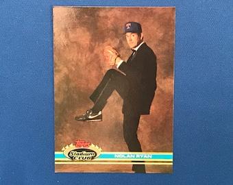 1999 Topps Stadium Club #200 Nolan Ryan Texas Rangers Baseball Card Trading Card
