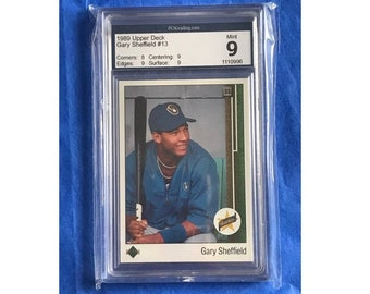 1989 Upper Deck Star Rookie Card #13 Gary Sheffield RC Baseball Collectors Card PCA 9 Mint