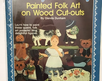 Painted Wood Craft Book / Folk Art / Country In The City / Vintage Craft Supply / Get Lucky Vintage