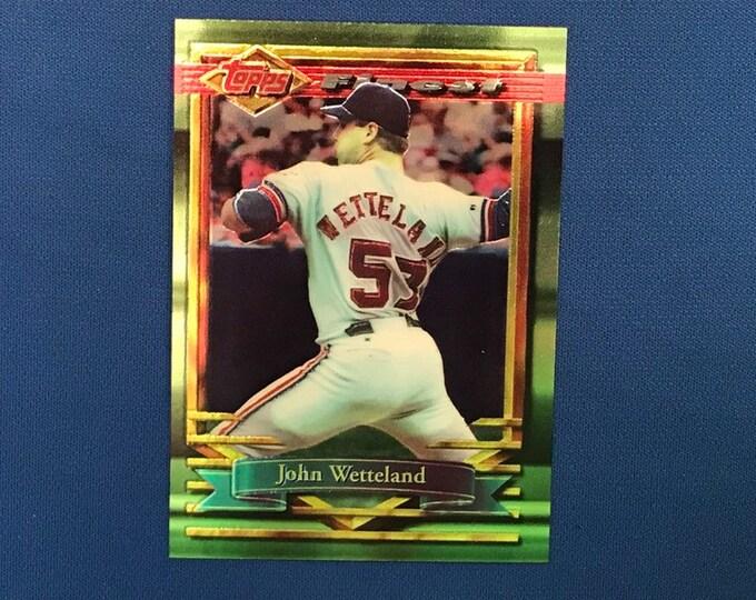1994 Topps Finest Refractor #133 John Wetteland Expos Vintage Baseball Card