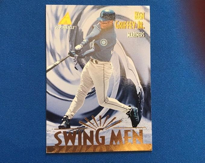 1995 Pinnacle Swing Men #304 Ken Griffey Jr Mariners HOF Vintage Baseball Card