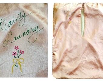 Gatsby's Girl Vintage 1920's  Dainty Laundry Boudoir Bag Lingerie