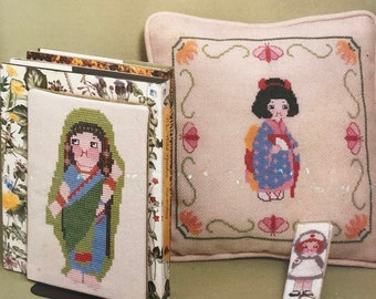 Cross Stitch Dolly Dingle Graph Pattern by Grace Drayton Geisha DIY Book Vintage Craft Supply