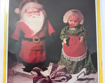 Christmas Variety of Doll Patterns Projects Holiday Pin Cushions Refrigerator Magnets etc DIY Book Vintage Craft Supply