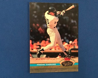 1999 Topps Stadium Club / #57 / Frank Thomas / Chicago White Sox / Hall of Fame / HOF / Vintage Baseball Card / Get Lucky Vintage