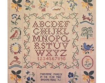Cross Stitch Sampler Graph Pattern Booklet Smyrna Alphabet Graph DIY Vintage Craft Book GP-200