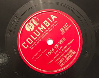 I Knew You When; Polka Dots and Moonbeams by Claude Thornhill Vintage Big Band Fox Trot Music 78 Columbia Record 10 inch Shellac Disc 38347