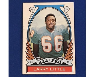 1972 Topps #267All-Pro Larry Little  Highlights of 1971 Football Card Trading Card Vintage Sports Memorabilia Collectibles