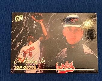 1993 Fleer Ultra Top Glove #15 Cal Ripken Jr Baseball Trading Card Vintage Sports Memorabilia Collectibles