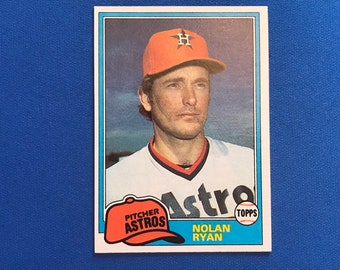 1981 Topps #240 Nolan Ryan HOF Astros Baseball Trading Card Vintage Sports Memorabilia Collectibles