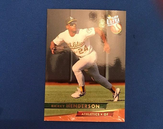 1993 Fleer Ultra #258 Rickey Henderson Athletics HOF Vintage Baseball Card