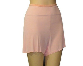 Wartime 1930's 1940's Vintage Panties Pink Tap Pants Rayon X-Small Small Get Lucky Vintage