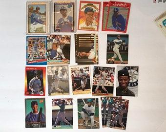 Ken Griffey Jr Lot HOF Rookie Promo HOF RC Baseball Trading Card Vintage Sports Memorabilia Collectibles