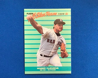 1988 Fleer All-Star Team / #4 / Roger Clemens / Red Sox / Vintage Baseball Card / Get Lucky Vintage