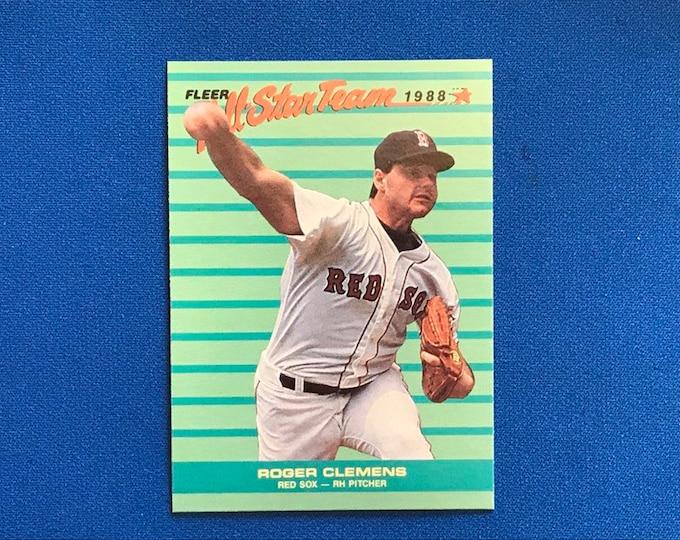 1988 Fleer All-Star Team #4 Clemens Red Sox Vintage Baseball Card