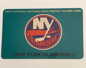 1995 Vintage NHL New York Islanders First Officially Licensed Prepaid Phone Calling Card Ice Hockey Trading Card Vintage Sports Memorabilia