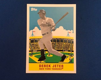 2007 Topps Flashback Fridays #FF2 Derek Jeter New York Yankees Card Baseball Trading Card Vintage Sports Memorabilia Collectibles